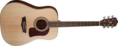 Washburn 6 String Acoustic Guitar, Natural Gloss (HD10S-O) ()