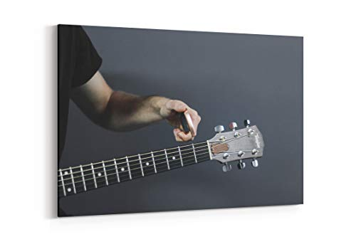 Guitar String Capo and Musician - Canvas Wall Art Gallery Wrapped 18