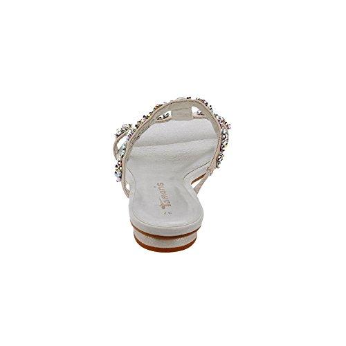 Tamaris 1-1-27191-28 018, Sandalias Planas Mujer Plateado (Silver 941)