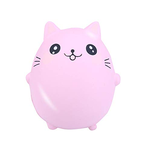 Sagton Kids Adult Squishy Toy,Squishies Adorable Cat Slow Rising Cream Squeeze Scented Stress Relief Toys (Pink)