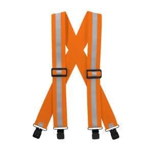 Reflective Suspenders-Neon Orange