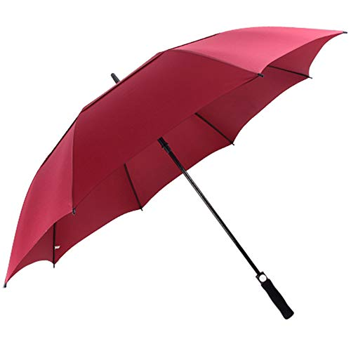ACEIken Golf Umbrella Windproof Large 62 Inch, Double Canopy Vented, Automatic Open, Extra Large Oversized,Sun Protection Ultra Rain & Wind Resistant Stick Umbrellas, Red ()