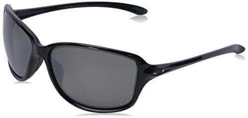 Oakley Women's Cohort Polarized Iridium Rectangular Sunglasses POLISHED BLACK 62.0 - Womens Sunglasses Oakleys