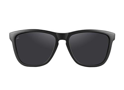 100 UV400 Crooked Sol con Polarizadas Classic Sol Negro de de Unisex Gafas Prtección Gafas qTwRxqA