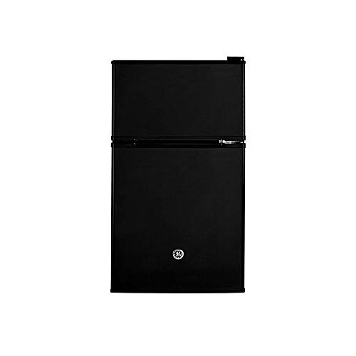 GE GDE03GGKBB Freestanding Compact Refrigerator, 3.1 Cu Ft, - Black Refrigerator Compact