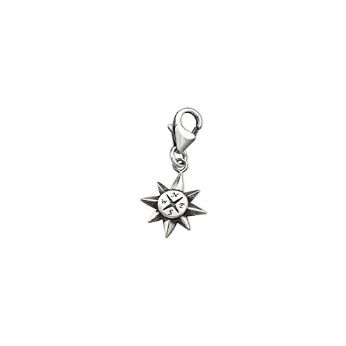(925 Sterling Silver Compass Charms with Lobster)