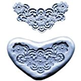 Lace Flowers in Heart Mold by CK