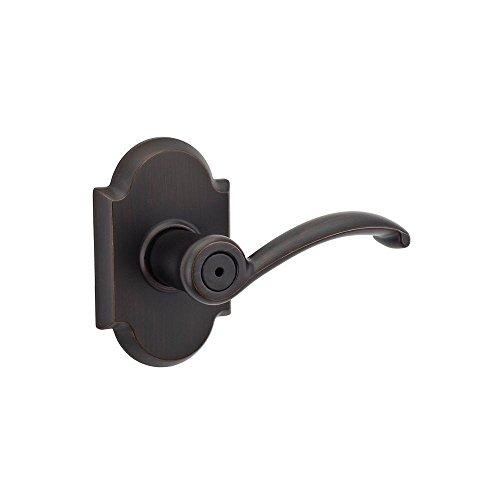 Kwikset RGP1017426 730AUL Austin Series Privacy Door Lever Set with Turn Button for Bedroom, Venetian Bronze (Set Set Austin Bedroom)