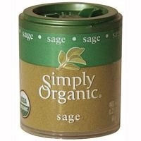 Simply Organic Ground Sage (Simply Organic Sage Leaf Ground Certified Organic, 0.21-Ounce Containers (Pack of 6) ( Value Bulk Multi-pack))