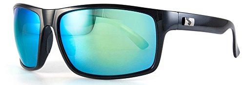 Sundog Eyewear Fringe Polarized Sunglasses, Shiny Black/Brown Lenses, One - Polarized Sunglasses Sundog