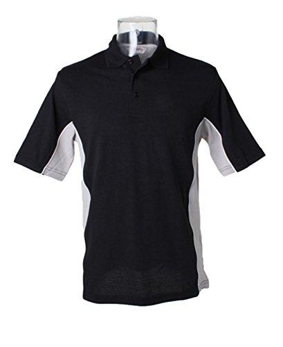 Kustom Kit–Gamegear Track Polo Shirt KK475schwarz/grau klein