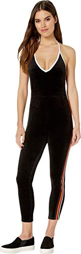 (Juicy Couture Women's Stretch Velour Jumpsuit Pitch Black Small)