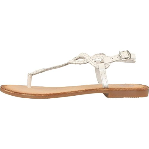 Gioseppo 39222 White White Women's Leather Thong Sandals Bianco 0ai6C3