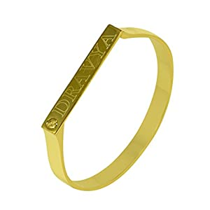Gold Plating Personalised 925 Sterling Silver Bracelet