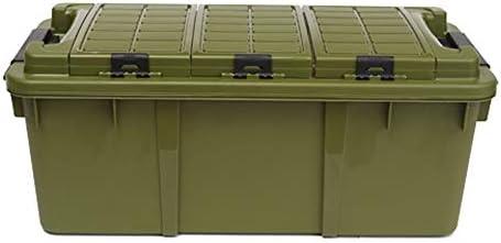 カーオーガナイザートランク ふた付きのストレージビン - 3つの屋根付きプラスチック製の収納ビンと車の多機能大規模な旅行スーツケース、キャンプ、釣り、アウトドアアクティビティに適し -カーアクセサリー (Color : #06)