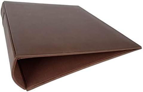 LEATHERKIND Esecutivo Ringbuch handgefertigt Aktenordner Haselnussbraun in Italienisches Leder Extra Large (34cm x 28cm x 8cm)