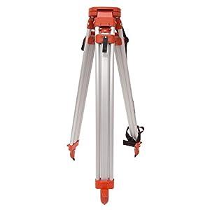 AdirPro Aluminum 5/8-Inch 11-Threaded Flat Head Heavy Duty Contractor Tripod with Quick Clamp (Orange)