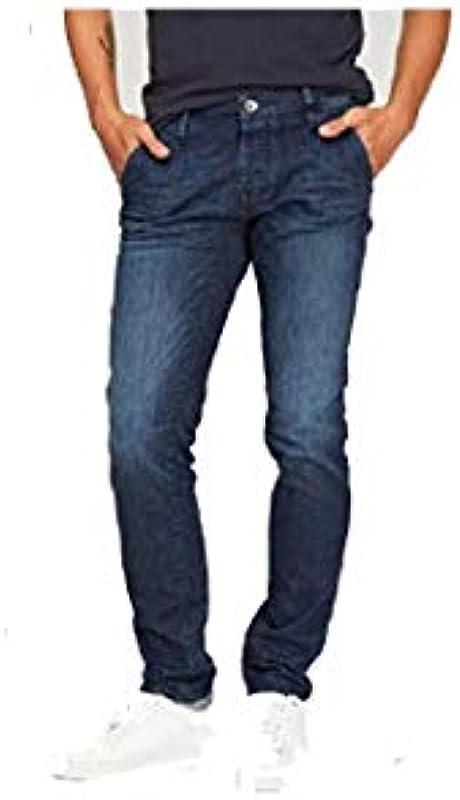Gas New Albert Chino wk16 Slim Męskie Elastic Jeans: Odzież