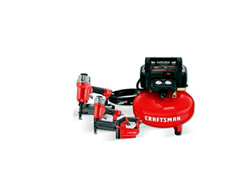 CRAFTSMAN 3-Tool Portable Air Compressor Combo Kit 18GA Brad Nailer 16GA Finish Nailer 3/8-in stapler