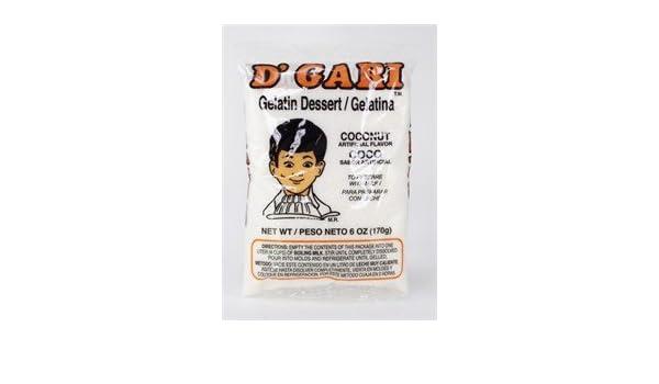 Amazon.com : Dgari Coconut Gelatin 6 Oz : Packaged Snack Gelatins ...