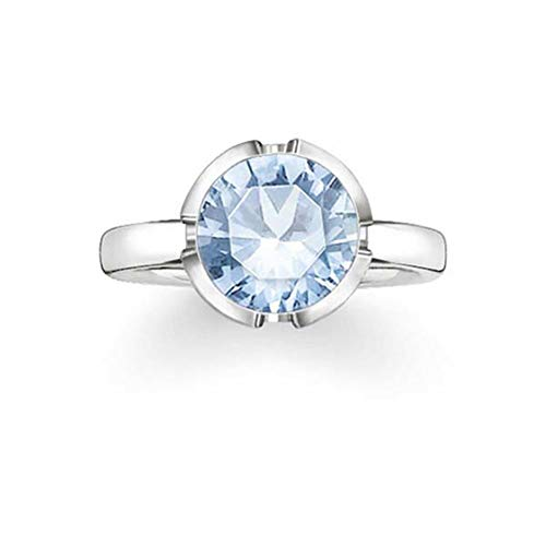 Thomas Sabo TR2034-009-31-50 Ring Silver Blue 925 Sterling Silver Woman – Size (50)