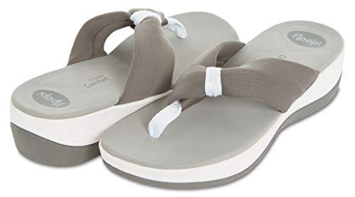Floopi Flip-Flop Summer Sandals for Women   Extreme Comfort EVA Technology Soles   Thong, Open Toe Design  1.75