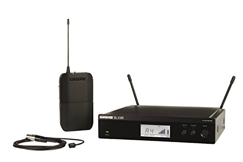 - Shure BLX14R/W93 Lavalier Wireless System with WL93 Lavalier Microphone, Rack Mount, H10