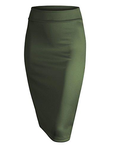 MBJ WB700 Womens Scuba Midi Skirt XXL Olive
