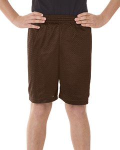 Badger Sport 6 Youth Pro Mesh Shorts - 2207 - Dark Brown - Small