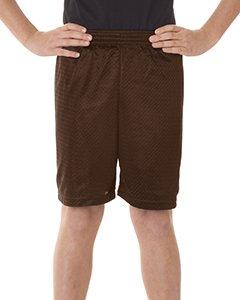 Badger Sport 6 Youth Pro Mesh Shorts - 2207 - Dark Brown - Small ()