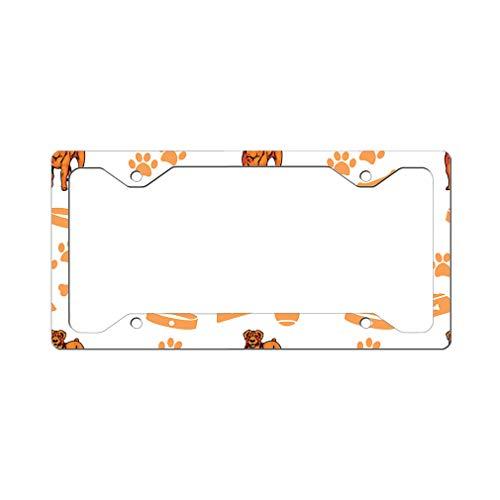 Style In Print Custom License Plate Frame Boerboel Dog Bone Bowl Collar Aluminum Cute Car Accessories Narrow Top Design Only Set of 2