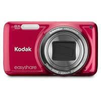 Kodak M583 Digital Camera, Value Bundle kit w/ Case, 4GB Card, Rechargeable Battery, Charger (Red)