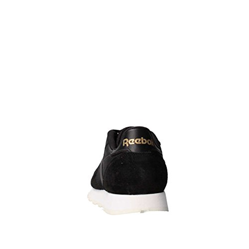 Reebok Classic Leather Alr, Scarpe da Ginnastica Basse Uomo Schwarz/Gold (BLACK/CHALK/ASHGRY/BRASS)