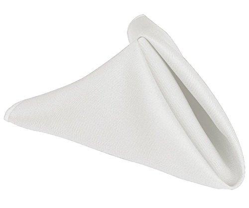 Machine Washable Restaurant//Wedding//Hotel Quality Polyester Fabric 5 Dozen 20X 20 White Cloth Dinner Table Napkins