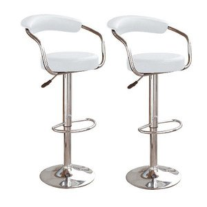 Fantastic Pair Of Broadway White Faux Leather Breakfast Kitchen Bar Stools By Unica 305 Pdpeps Interior Chair Design Pdpepsorg