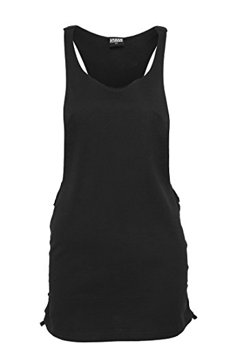 Ladies Side Knotted Loose Tank blk/blk XL