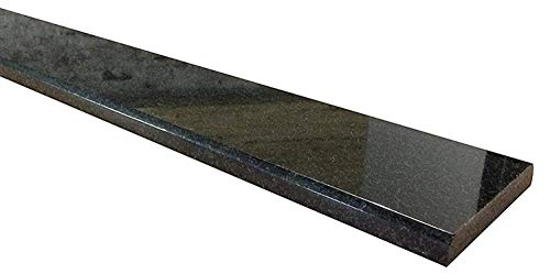 - Granite Threshold Saddle - Black Absolute - Size 36 x 6 inch - Polished