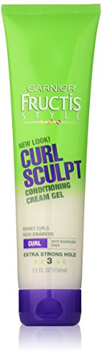 Garnier Fructis Style Curl Sculpt Conditioning Cream Gel, Curly Hair, 5.1 fl. oz.