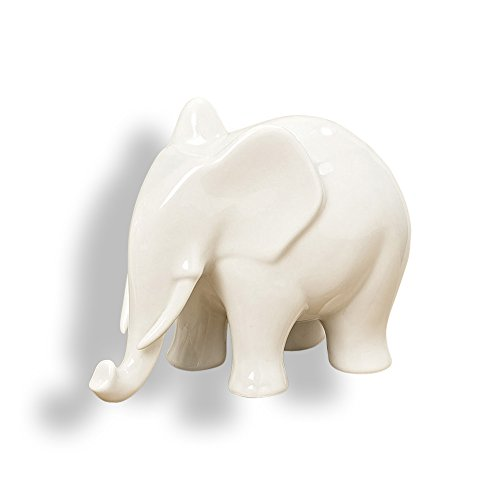 World Porcelain (The Elegant Elephant, White Porcelain Figurine, 6 1/4 Inches Long, By Whole House Worlds)