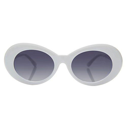 White Oval Clout Mod - Lulu Sunglasses