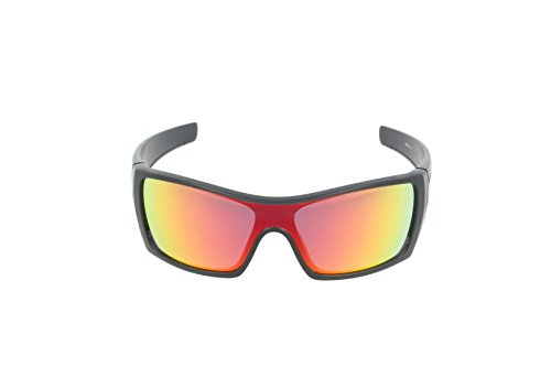 Oakley mens Batwolf OO9101-38 Ruby Iridium Sport Sunglasses,Matte Black  Ink,55 f5a7b6244b