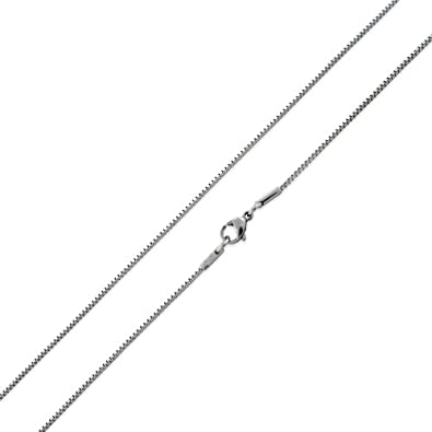 SilverCloseOut Stainless Steel Box Chain Necklace 1.5MM 16-36 Available