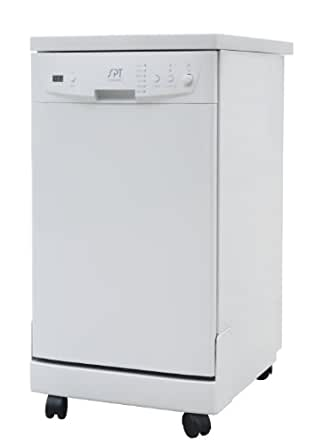 SPT SD-9241W Energy Star Portable Dishwasher, 18-Inch, White