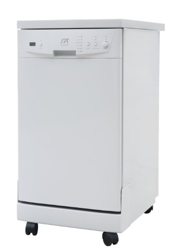 : SPT SD-9241W Energy Star Portable Dishwasher, 18-Inch, White