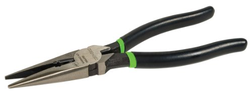 (Greenlee 0351-08SD Long Nose Pliers/Side Cutting With Stripping Hole, Dipped Grip, 8