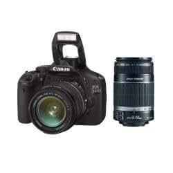 Canon EOS 550D - Cámara Réflex Digital 18.1 MP (Objetivo EF-S 18-55mm f/3.5-5.6 + EF-S 55-250mm f/4-5.6 IS, Kit)