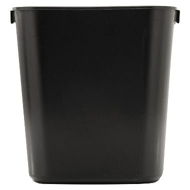 Soft Molded Plastic Wastebaskets (Rubbermaid Commercial Soft Molded Plastic 3.5-Gallon Trash Can, Rectangular, Black 3 Pack)