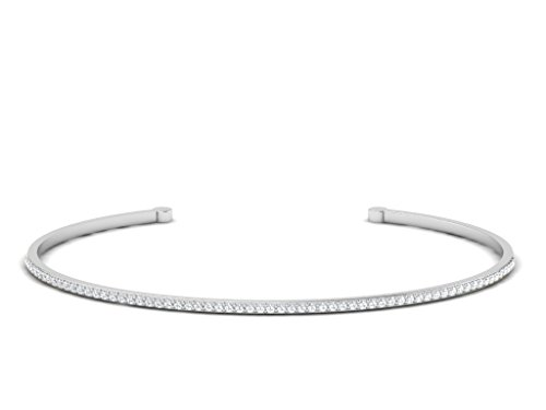 Or Blanc 18 ct Bracelet Diamant , 0.33 Ct Diamant, GH-SI, 3.03 grammes.