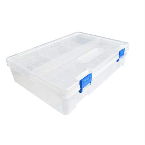 Plastic Box Case for UNO Kit 23416862mm with Two Layer Storage Box