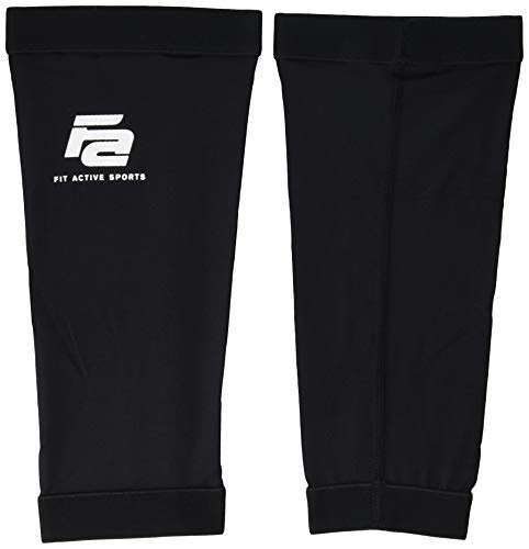 Fit Active Sports Copper Calf Compression Sleeves for Leg Relief, Running, Cross Training Workouts, Knee Pain & More! 1 Pair